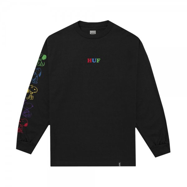 HUF × PEANUTS SNOOPY YEARS LONG SLEEVE TEE [ BLACK ] / ハフ ピーナッツ Tシャツ