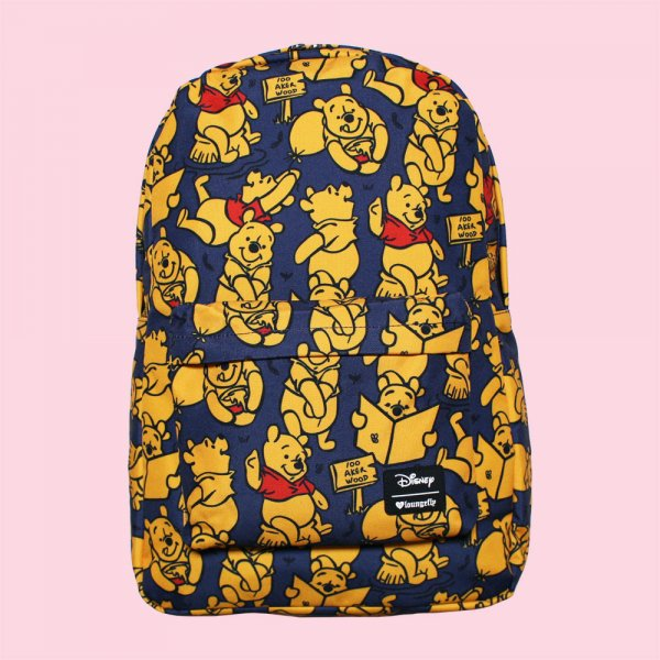 LOUNGEFLY × DISNEY WINNIE THE POOH PRINT BACKPACK / ラウンジフライ  ディズニー バックパック