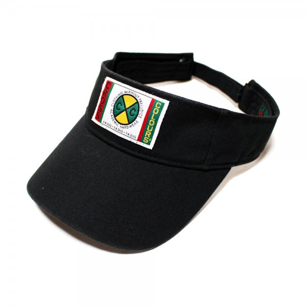 CROSS COLOURS CLASSIC WOVEN LABEL VISOR [ BLACK ] / クロスカラーズ バイザー