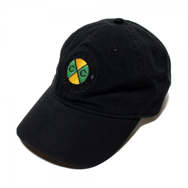 CROSS COLOURS CROSS COLOURS CLASSIC EMBROIDERED DAD HAT [ BLACK ] / クロスカラーズ ダッドハット
