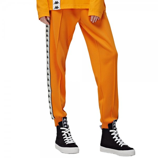 KAPPA BANDA COLLECTION KNIT LONG PANTS [ ORANGE ] / カッパ ロング パンツ