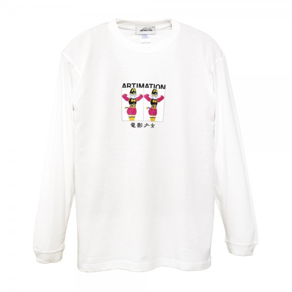 ARTIMATION × 電影少女 DOUBLE BOX LONG SLEEVE TEE [ WHITE ] / アーティメーション Tシャツ
