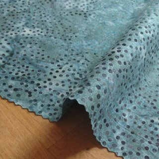 カットクロス DOT BATIKS 【Teal Gray 】