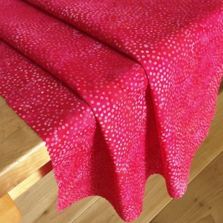 10cm単位 DOT BATIKS 【Raspberry 】