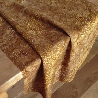 10cm単位 DOT BATIKS 【Biscuit Gold 】