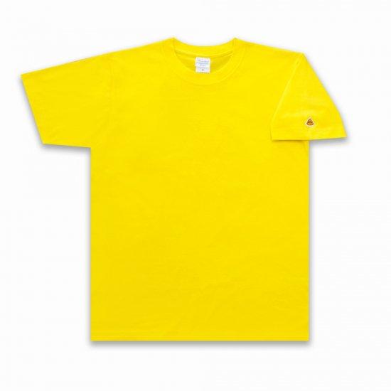<img class='new_mark_img1' src='https://img.shop-pro.jp/img/new/icons25.gif' style='border:none;display:inline;margin:0px;padding:0px;width:auto;' />目が痛いほど眩しいうんこ うんこ 半袖Tシャツ 袖口タイプ デイジー×オレンジ