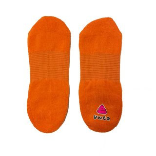 よく売れる季節になりました! うんこが踏める! うんこ超ショートソックス2足組  オレンジ