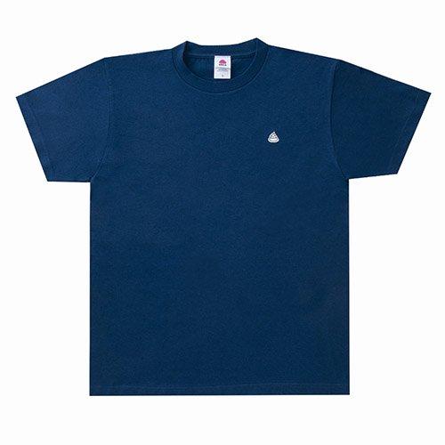<img class='new_mark_img1' src='https://img.shop-pro.jp/img/new/icons15.gif' style='border:none;display:inline;margin:0px;padding:0px;width:auto;' />うんこ 半袖Tシャツ インディコ×ホワイト