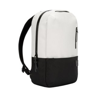 Compass White Leather Backpack - ONLINE STORE LIMITED -