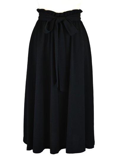 【無地/ブラックフォーマル】フロントリボンスカート