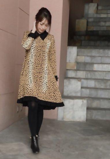 【Stay gold】襟付裾フリルワンピース