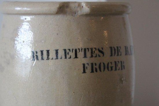 陶器のリエット瓶