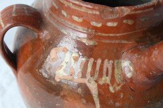 陶器の壺型水差し