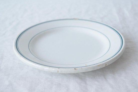 緑ラインのリム皿
