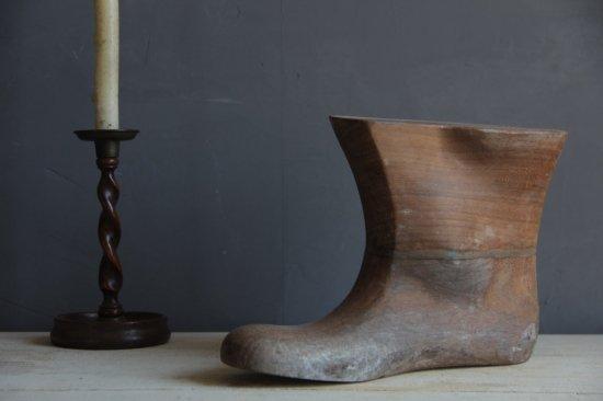 古い木製靴型 片足