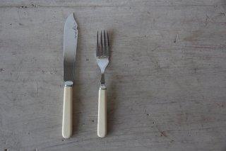 クロムプレートのカトラリー ナイフ&フォークセットB
