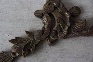 ロカイユ装飾の木製オブジェ/パーツ