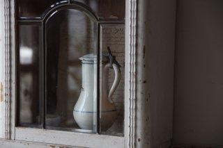 古時計リメイク シャビーな壁掛けボックス