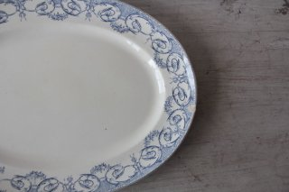 """Creil et Montereau """"LABRADOR SERVICE DUBARRY"""" オーバル皿"""