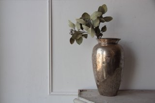 シルバープレートの花器/壺