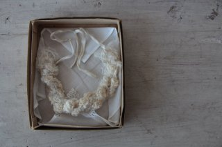 アンティークレース/布花の首飾り