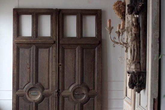 修道院のドア オーク材
