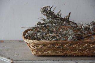 柳の浅型スクエアトレイ/編みかご