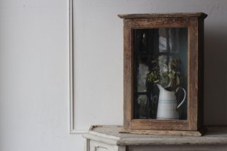 木製 ガラスショーケース/コレクションボックス