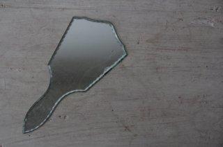 全面ガラスのハンドミラー