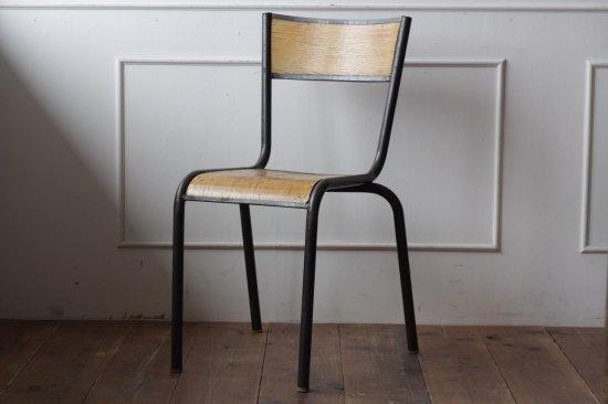 鉄フレームの木椅子 タイプII-A