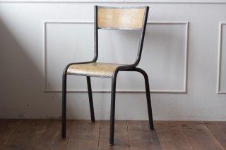鉄フレームの木椅子 タイプII-C