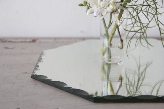 カットガラスのミラー オクトゴナル大
