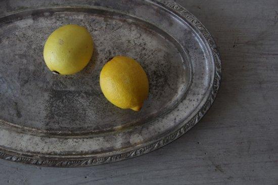 シルバープレートのオーバル皿 A