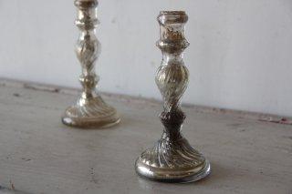 水銀ガラスのキャンドルスタンド/燭台B