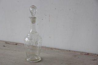 ハンドペイントの蓋付ガラス瓶