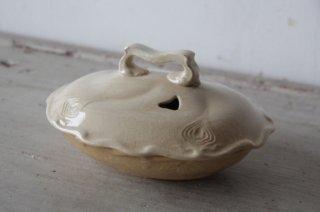 陶製の石鹸入れ 貫入多数