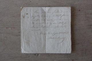 フランスの古文書D (1855年 手紙)