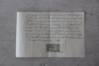フランスの古文書E (1892年 手紙)