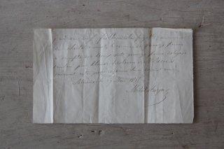 フランスの古文書F (1899年 手紙)