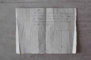 フランスの古文書G (1892年 手紙)