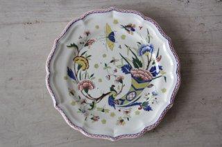 GIEN 草花と昆虫柄のカラフルな絵皿