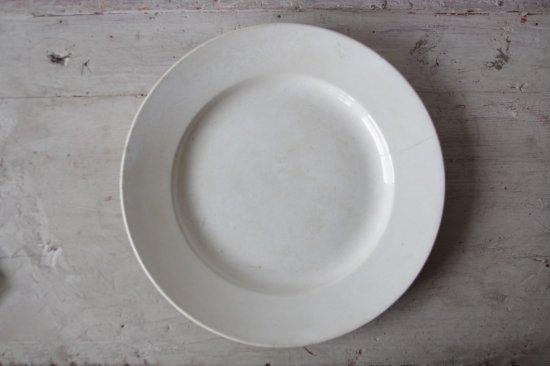 H.B.&Cie(Choisy le Roi) 白釉のラウンド大皿