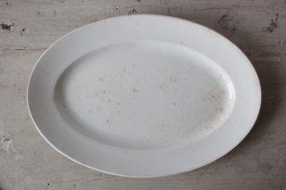 CREIL ET MONTEREAU 白釉のオーバルプレートC