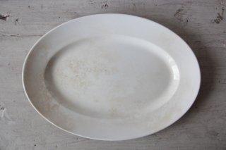 DIGOIN SARREGUEMINES 白釉のオーバルプレートC