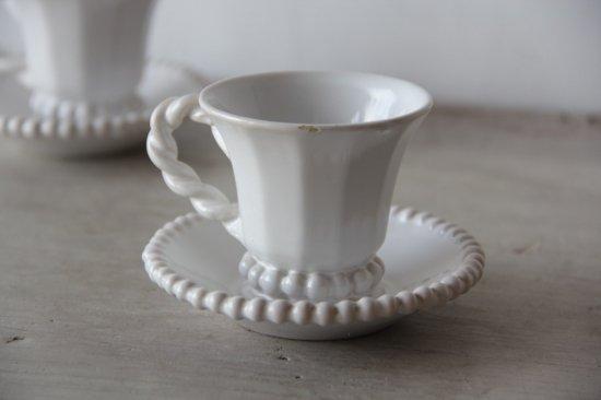 パール装飾のティーカップ&ソーサーA