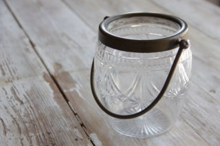 真鍮把手のガラスアイスペール