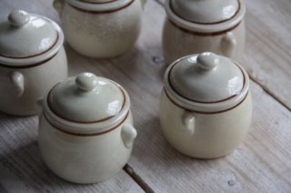 陶器の蓋物/スパイスポット[在庫3]