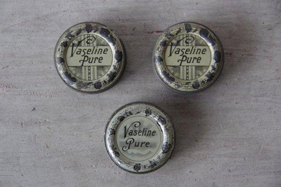 ブリキのヴァセリン缶/ピルケース[在庫1]