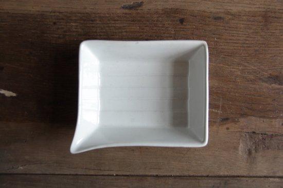 白磁の現像トレイ 浅型小