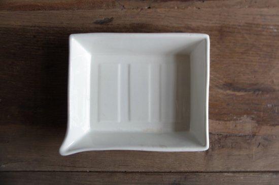 白磁の現像トレイ 浅型大C